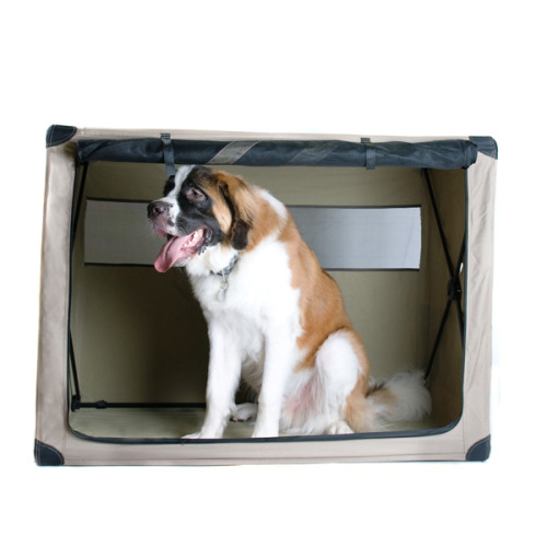 Make: St Bernard Notes: Apparently you might need a big dog crate for transporting your big dog… Here's a picture of a viscous monster in his crate.