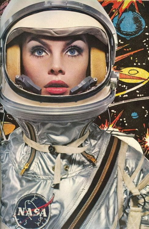 Jean Shrimpton in space…