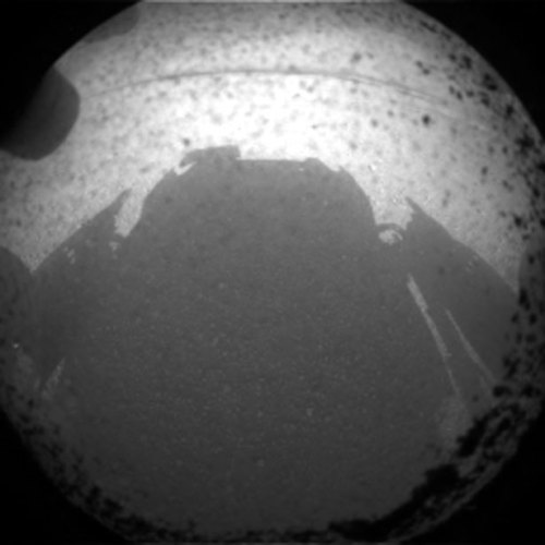 "theatlantic:  This is the First High-Res Image from the Curiosity Rover on Mars [Image: NASA]  Uh… not to pick too many nits, but this was the second image sent.  Unless, of course, you want to have a conversation about what constitutes ""High Resolution""."