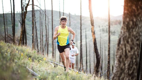 isensearunner:  Jurek and Jornet on a training run in Boulder