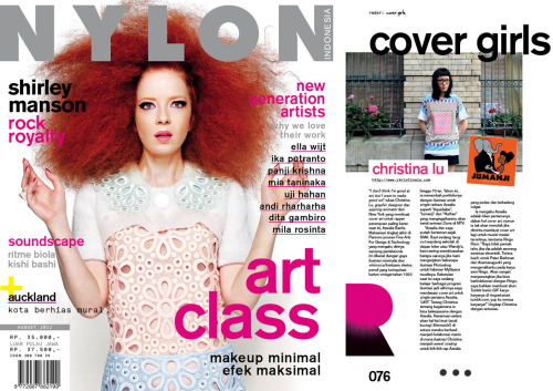 I'm in this month's issue of NYLON Indonesia!