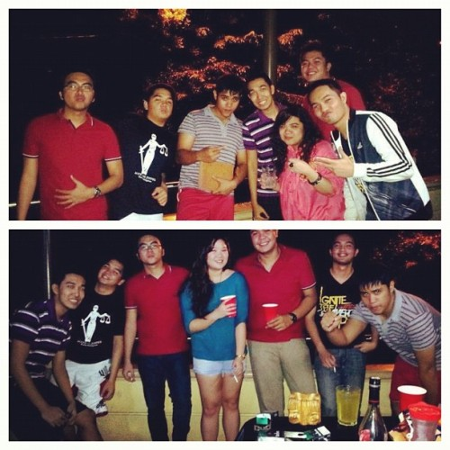 Repost from Deb :) Marketing section two #beerpong #m2 #ust (Taken with Instagram at Hermo's deck)
