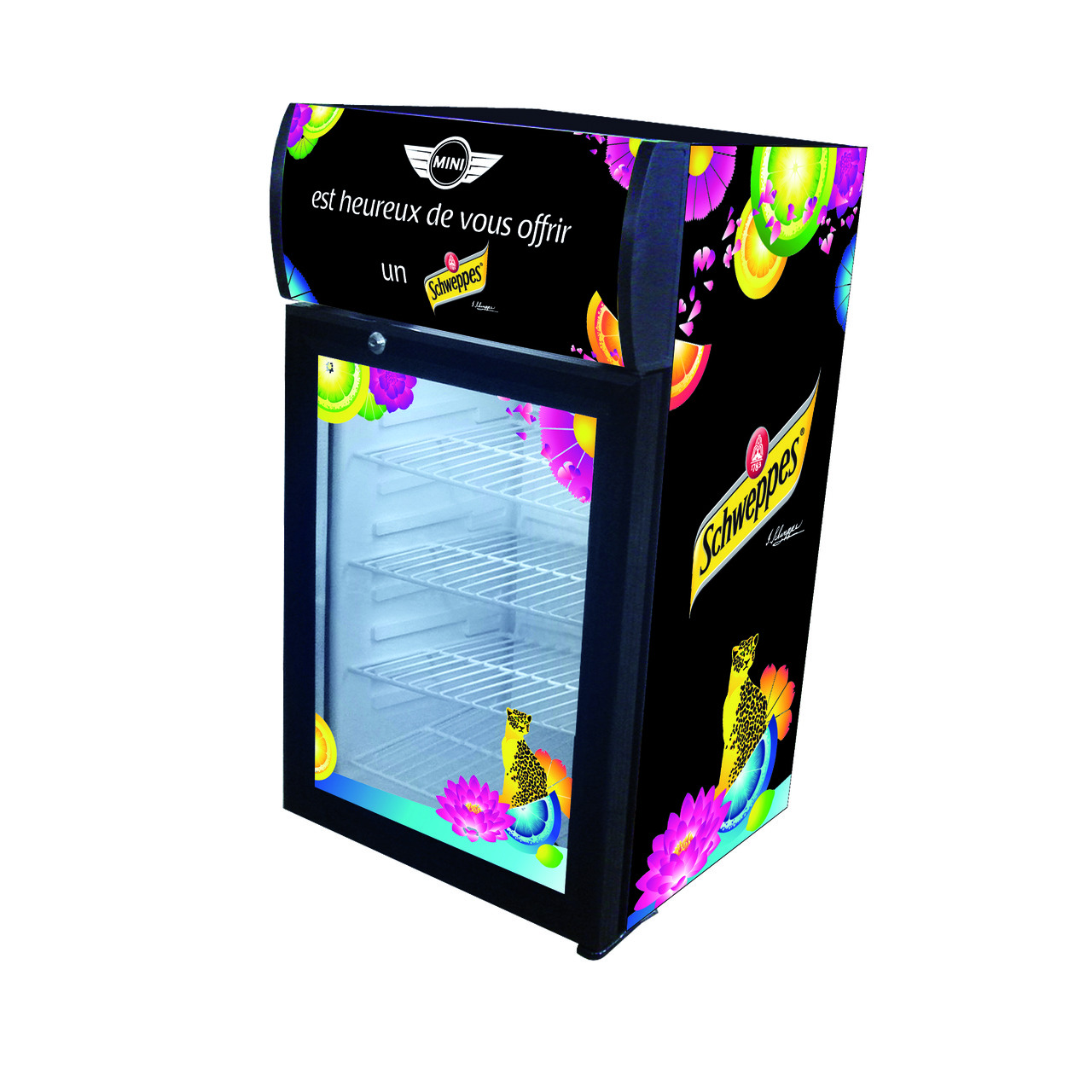 Réfrigérateur Schweppes - Mini - Yes Events - Global Com