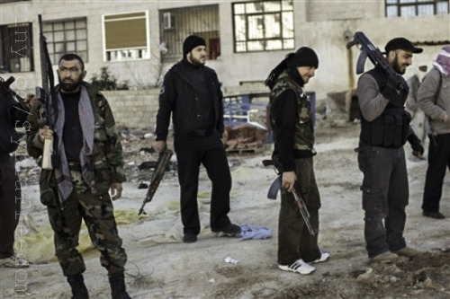 Accounts of Syria rebels executing prisoners raise new human rights concerns  |  Kansas City Star By Hannah Allam and Austin Tice / McClatchy Newspapers WASHINGTON — Syrian insurgents fighting to unseat President Bashar Assad face a growing list of accusations that they've carried out executions and torture, muddying the Western narrative of a heroic resistance force struggling against a vicious regime. FULL ARTICLE (Kansas City Star) Photo: Freedom House/Wikimedia Commons