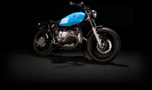 "A Beautiful BMW Scrambler by German customiser Urban Motor which he calls ""McQueen""  Check out one of the best motorcycle websites I've ever seen here for more pics."