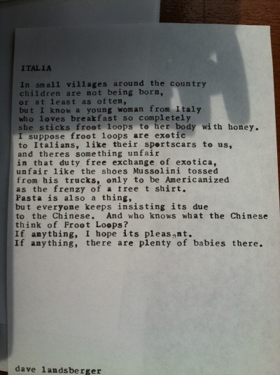"""Italia"" by Dave Landsberger — Summer on Southport, 7.21.12"
