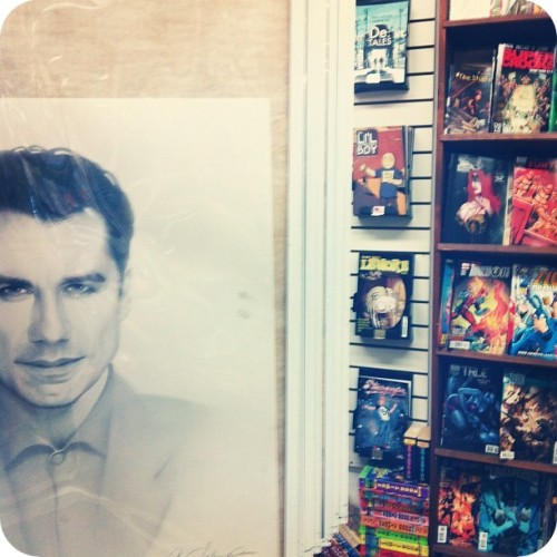 Spotted in Outer Limits: Travolta in the comic shop.