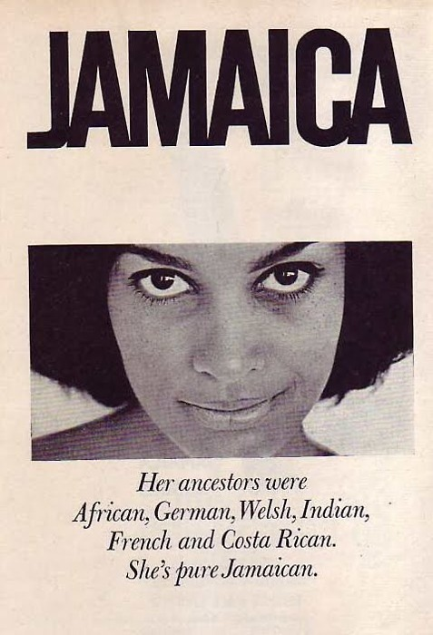 "HAPPY 50TH JAMAICA!! img: Jamaican Tourist Board advert from ""Pleasure Island - The Book Of Jamaica"" by Esther Chapman, 1958."