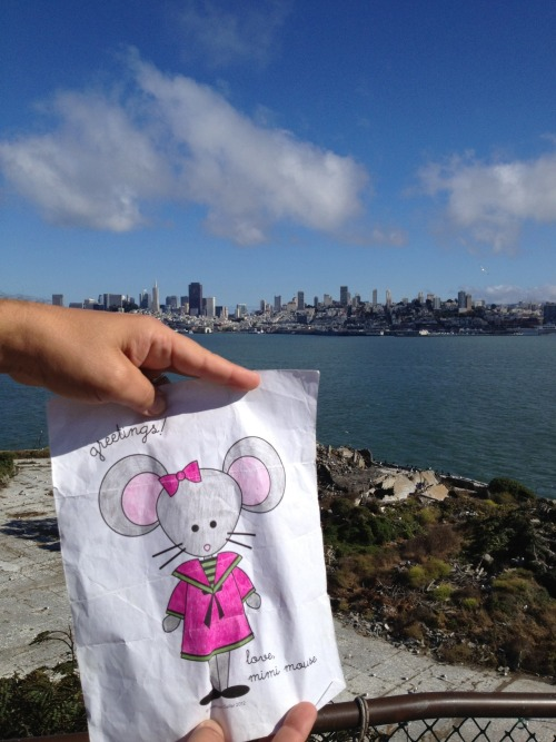 Mimi loved the view of San Francisco from Alcatraz Island!
