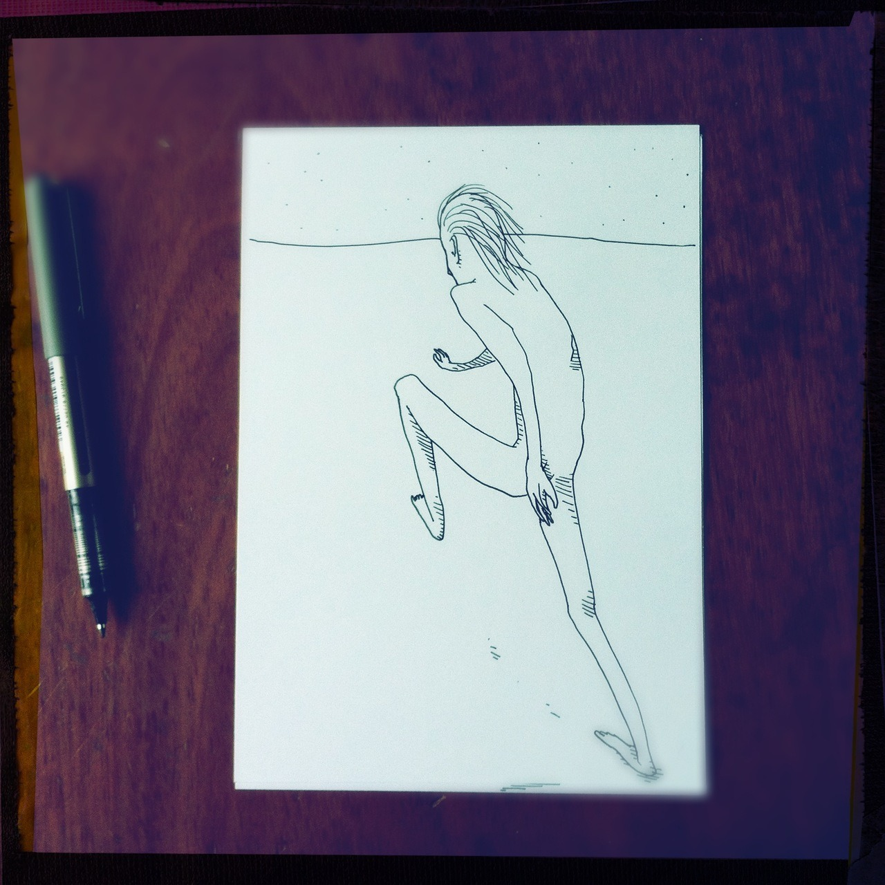 Also. #sprint #drawing Americana Lens, Big Up Film, No Flash, Taken with Hipstamatic