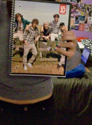 who just got a One Direction notebook from wal-mart i did