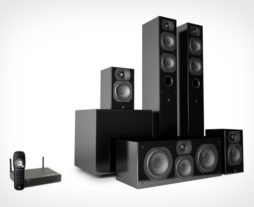 Aperion Audio Intimus 4T Summit Wireless System. Pro sound, amateur setup.