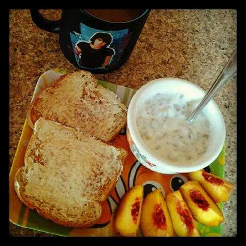 Breakfast! :) #coffee #joejonas #nemo #yogurt #healthy #yummy  (Taken with Instagram)