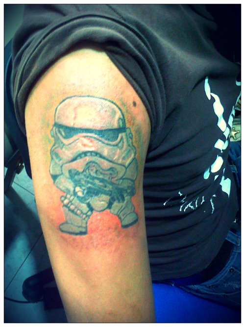 StarWars trooper done in México @ SuaveRico Tattoo Parlour.