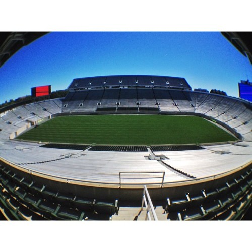 Spartan Stadium #iphone #procamera #olloclip #fisheye #msu #football #spartanstadium  (Taken with Instagram at Spartan Stadium)
