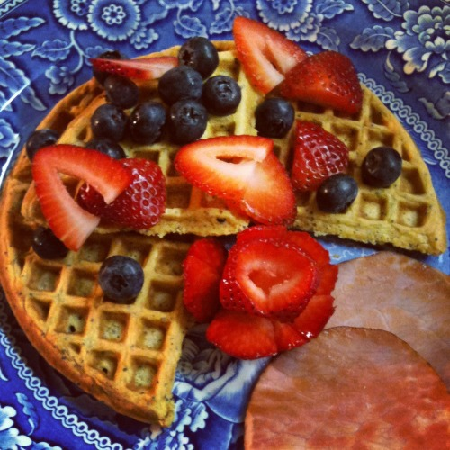 Scarborough Fair Bed & Breakfast's Lemon Poppy Seed Waffles: summer sunshine on a plate. http://www.scarboroughfairbandb.com/fromthekitchen.htm