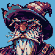 Wizard Pixel Portrait.12 colors.