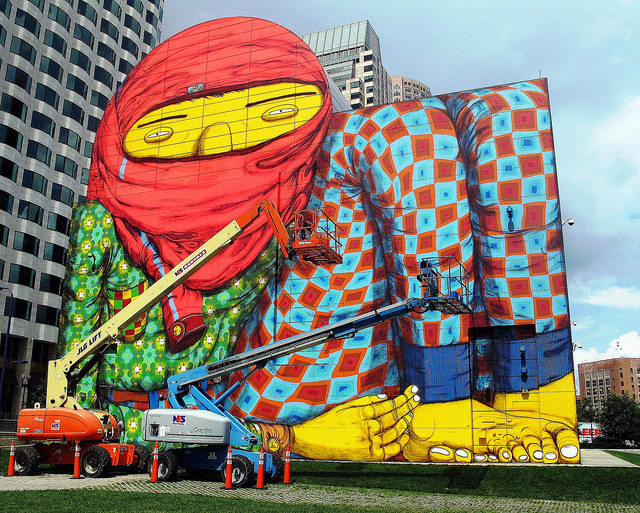 Os Gemeos in Boston by LoisInWonderland on Flickr.A través de Flickr: