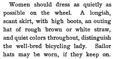 ~ Etiquette for Americans, by A Woman of Fashion, 1898