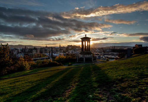 absolutescotland:  Edinburgh Skyline at Sunset by bfurbush on Flickr.