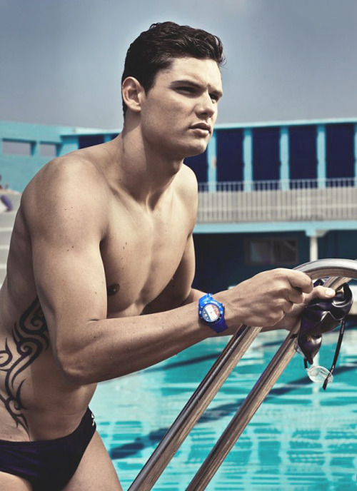 olympicsexualfrustration:  Florent Manaudou Team France Swimming  The Summer Diary Project.  Follow us on Facebook + Twitter @summer_diary
