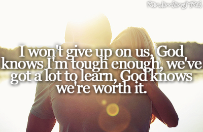 randomsonglyrics:  Jason Mraz - I Wont Give Up