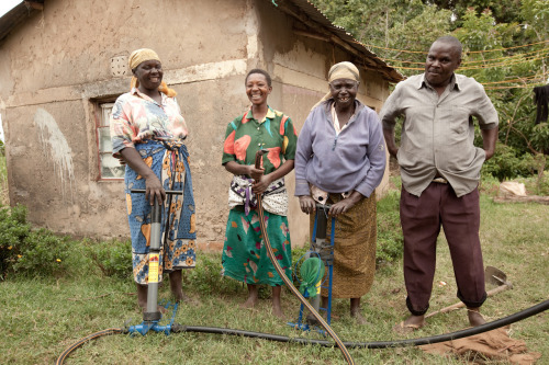 Meet some of the proud owners of the Kickstart irrigation pump in rural Kenya. Learn more about how these pumps have changed these farmers' lives, at www.theadventureproject.org.