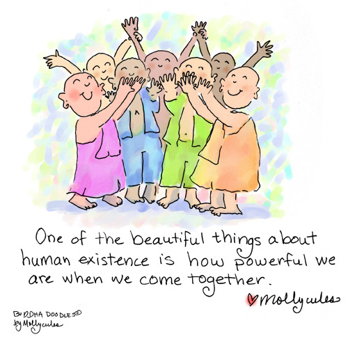 Buddha Doodle - 'Come Together'by Mollycules♥ Please Share ♥