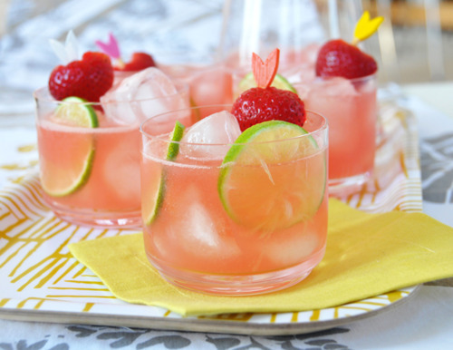 Watermelon & Strawberry Cocktails