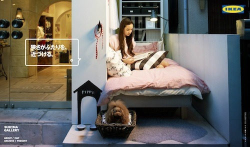 IKEA Creates Tiny Rooms On Tokyo Streets ikea, you're adorable.