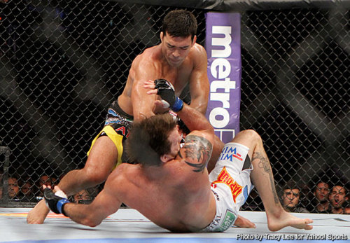 Lyoto Machida knocked out Ryan Bader in the 2nd round to get his title fight against the winner of the Dan Henderson and Jon Jones fight!