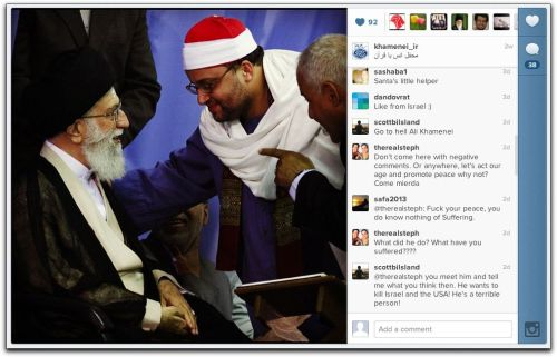 Yes, Iran's Supreme Leader is Now on Instagram No, he's not using clever filters. Yes, you can follow him. No, user comments on his photos aren't measured and civil. Yes, Iran plans to create its own Internet and block off the rest of the world. Image: Screenshot of Grand Ayatollah Ali Khamenei's Instagram account. H/T: The Atlantic.