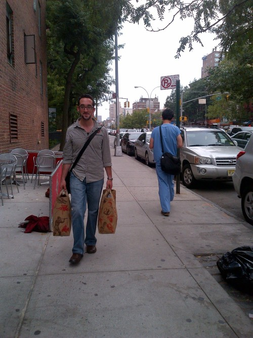 the longest he's ever had to travel for groceries.