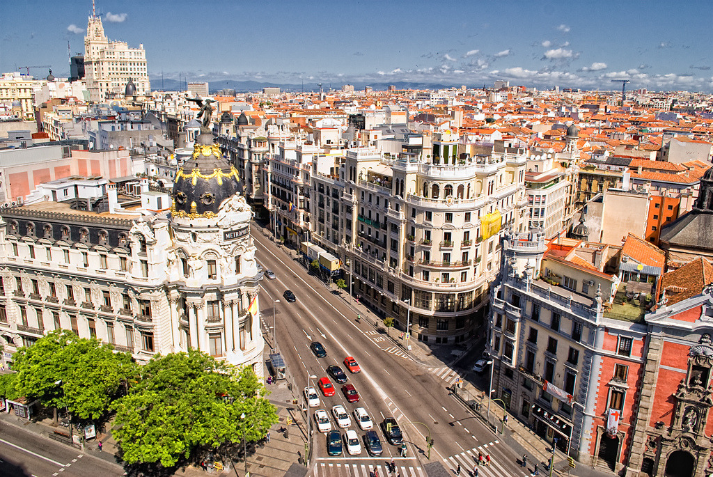 And now my new home… allthingseurope:  Gran Vía, Madrid (by Paco_Chuck)
