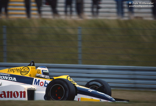 Keke Rosberg for Williams, 1985 German Grand Prix.