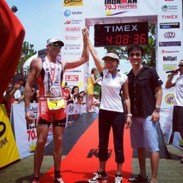Iron Man Through Your Eyes [Instagram] On August 5, 2012, Cebu was host to the Iron Man 70.3 Philippines. It's one of the most grueling competitions in the world. This race featured a 1.9km swim, a 90km bike ride and a grueling 21km run. Pete Jacobs finished 1st with a time of 04:07:38. Here's what he had to say about the Iron Man in Cebu: (Read More)