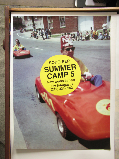 Summer Camp. Design by Paul Sahre, photographer Michael Northrup, 1998. Part of the simple and economical identity I designed for Soho Repertory Theatre that is still in use today.