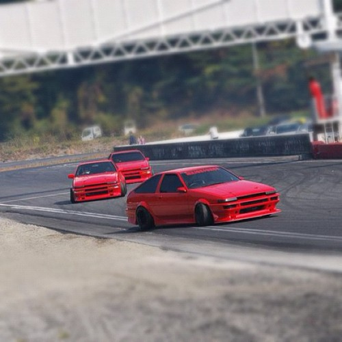 We LOVE the #AE86 in red!!! Happy 8-6!!! #trueno #levin #drifting #drift (Taken with Instagram)