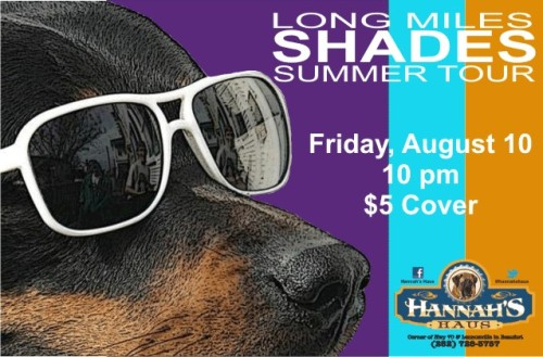 LONG MILES! They're back in the Haus Friday, 9/10/12!  Come see em! From the suburbs of Philadelphia, with sounds infecting the East Coast and beyond, Long Miles brings you melodies from a light heart. The band likes to shine in their own way, bringing good vibes to people wherever they take the stage. With heroes like Phish, Umphrey's McGee, Steel Pulse, and G. Love & Special Sauce, Long Miles strives to feed the need for the groovy, bouncy, feel-good tunes that make these groups so well known. Long Miles has come a long way since their self-produced LP, 405 Productions, recorded in their freshman college dorm room in Charleston in 2009. They recorded A Philadelphonic EP with Chris DiBeneditto (G. Love & Special Sauce, Slightly Stoopid, the Movement) at Philadelphonic Studios in Philadelphia, with a November 2010 release. This March they released their latest album, Shades, recorded with Rick Beato (Trey Anastasio, NeedToBreathe, The Movement) at Black Dog Sound Recording Studios in Atlanta, Georgia. Long Miles takes a major sonic leap forward with Shades. The album showcases their exploration of new reggae-tinged textures and jam band-influenced song arrangements, while continuing to define their signature blend of inventive lyrics and tight, dance-inducing rhythms. With tunes on the radio and consistent crowds at live shows, their potential to be a major influence on the scene can be found at every listen, and Long Miles is ready for the world.