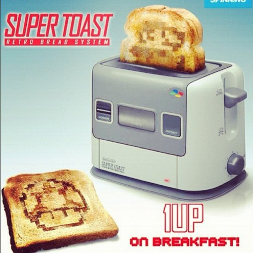 morecowbellss:  WANT! #mario #toaster #oneup (Taken with Instagram)