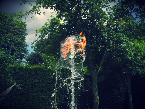 Photograph I took of the water flame at Houghton Hall.