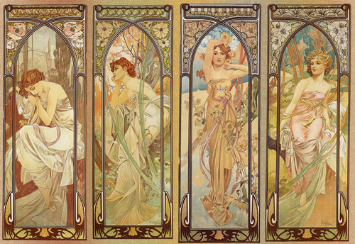 surrealappeal:  Alphonse Mucha, The Times of Day, 1899.