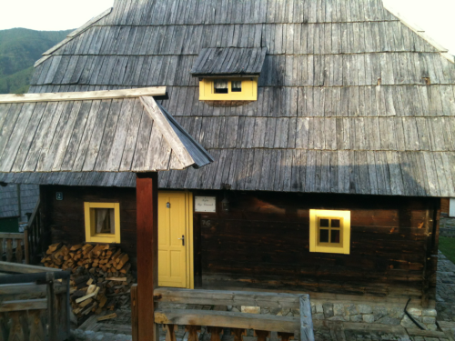 Our lovely abode at Emir Kusturica's Wooden city which was originally used as the set for his film 'Life is a Miracle'.