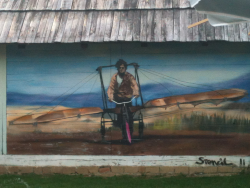 'Arizona Dream' film tribute mural at Emir Kusturica's Wooden City.