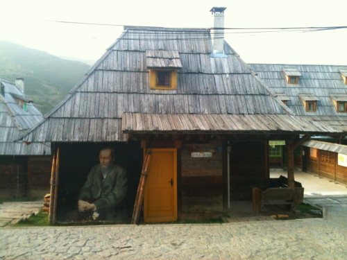 Fyodor Dostoevsky's tribute cottage at Emir Kusturica's Wooden City