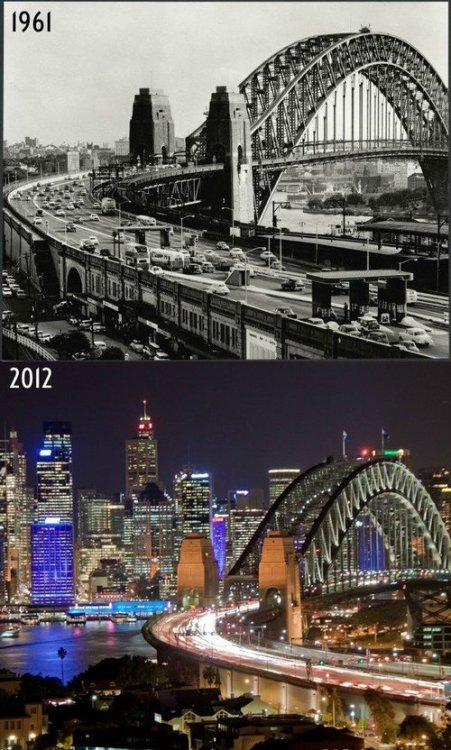 sydney harbour bridge: now and then