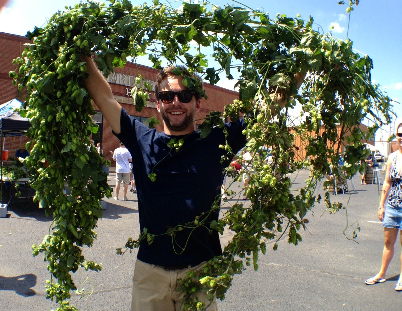 Hardywood's 2012 Hop Harvest was a success! We harvested over 50 lbs of Virginia grown hops for this year's RVA IPA!  Hophead for life.