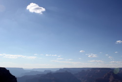 Lone cloud over the canyon. Grand Canyon National Park, Arizona