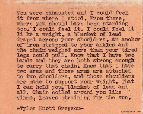 Typewriter Series #133 by Tyler Knott Gregson