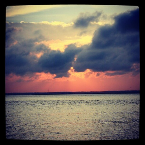 08042012 #LongBeachIsland // #Sunset over the #Atlantic #Ocean // #Summer #Sun #Water #Beautiful #Nature #Sky #Red #Colors #LBI #BetterInPerson  (Taken with Instagram at Long Beach Island)